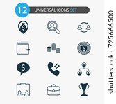 resources icons set. collection ... | Shutterstock .eps vector #725666500