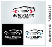 auto repair logo design... | Shutterstock .eps vector #725668369