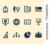 business icons set. collection... | Shutterstock .eps vector #725668444