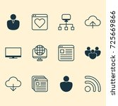 connection icons set.... | Shutterstock .eps vector #725669866