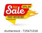 hot sale price offer deal... | Shutterstock .eps vector #725671318