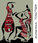 abstract african art  dancing... | Shutterstock .eps vector #725677009