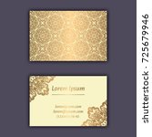 luxury business cards with... | Shutterstock .eps vector #725679946