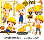 vector construction set. set... | Shutterstock .eps vector #725692234