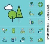 flat color trees icon  green... | Shutterstock .eps vector #725693236