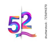 52 years anniversary with... | Shutterstock .eps vector #725694370