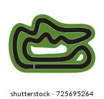 flat race track isolated. top... | Shutterstock .eps vector #725695264