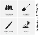 set of 4 editable travel icons. ...