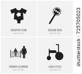 set of 4 editable kid icons....