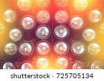 dirty expired tin can food ... | Shutterstock . vector #725705134