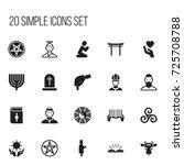 set of 20 editable dyne icons....