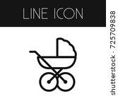 isolated stroller outline. pram ... | Shutterstock .eps vector #725709838
