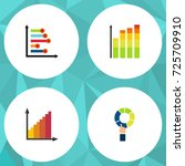flat icon chart set of... | Shutterstock .eps vector #725709910