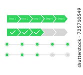 progress steps bar vector... | Shutterstock .eps vector #725710549