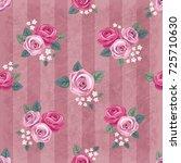 seamless vintage romantic... | Shutterstock .eps vector #725710630
