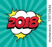 retro comic speech bubble with... | Shutterstock .eps vector #725710636