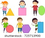 illustration of stickman kids... | Shutterstock .eps vector #725713900