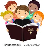 illustration of stickman kids... | Shutterstock .eps vector #725713960