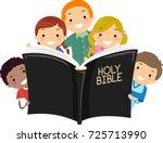 illustration of stickman kids... | Shutterstock .eps vector #725713990