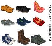 vector set of cartoon color...   Shutterstock .eps vector #725714350