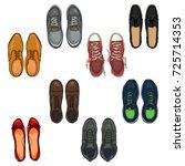 vector set of cartoon color... | Shutterstock .eps vector #725714353