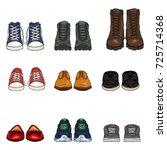 vector set of cartoon color... | Shutterstock .eps vector #725714368