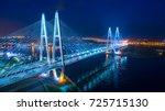 saint petersburg. russia. night ... | Shutterstock . vector #725715130