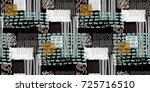 memphis seamless  pattern in... | Shutterstock .eps vector #725716510