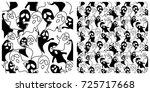 ghost seamless background. left ...   Shutterstock .eps vector #725717668