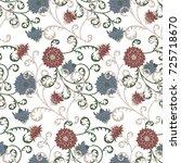 floral rapport for wallpaper or ... | Shutterstock .eps vector #725718670