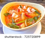 tom yum goong spicy sour soup... | Shutterstock . vector #725720899
