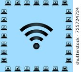 wi fi icon  wireless network... | Shutterstock .eps vector #725724724