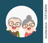 retired elderly senior age... | Shutterstock .eps vector #725728396