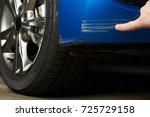 paint scratch on car. insurance ... | Shutterstock . vector #725729158