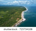 aerial view on coastline of... | Shutterstock . vector #725734108