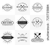 vintage restaurant logo... | Shutterstock .eps vector #725735884