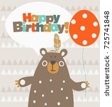 happy birthday   lovely vector... | Shutterstock .eps vector #725741848