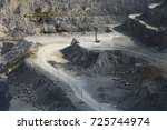 quarry drilling machine   on... | Shutterstock . vector #725744974