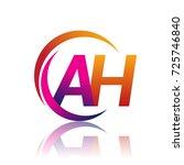 initial letter ah logotype... | Shutterstock .eps vector #725746840