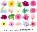 flower set | Shutterstock .eps vector #725747818