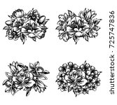 flower set   Shutterstock . vector #725747836