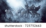 3d illustration of a demons... | Shutterstock . vector #725752663