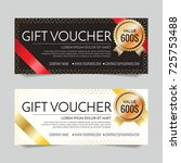 gift voucher vector background... | Shutterstock .eps vector #725753488
