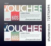 gift voucher vector background... | Shutterstock .eps vector #725753494