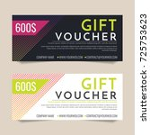 gift voucher vector background... | Shutterstock .eps vector #725753623
