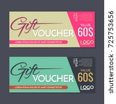 gift voucher vector background... | Shutterstock .eps vector #725753656