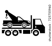 solid truck car icon designed... | Shutterstock .eps vector #725755960
