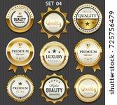 premium commercials golden... | Shutterstock .eps vector #725756479