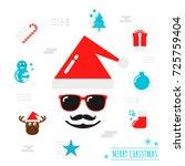 merry christmas background ...   Shutterstock .eps vector #725759404