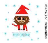 merry christmas background ...   Shutterstock .eps vector #725759410